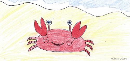 Der kleine rote Krebs gemalt von Thessa