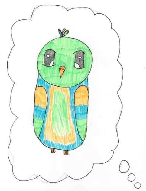 Der Papagei gemalt von Thessa
